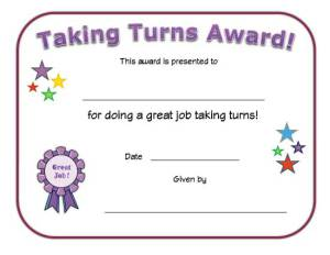 taking-turns-award-certificate